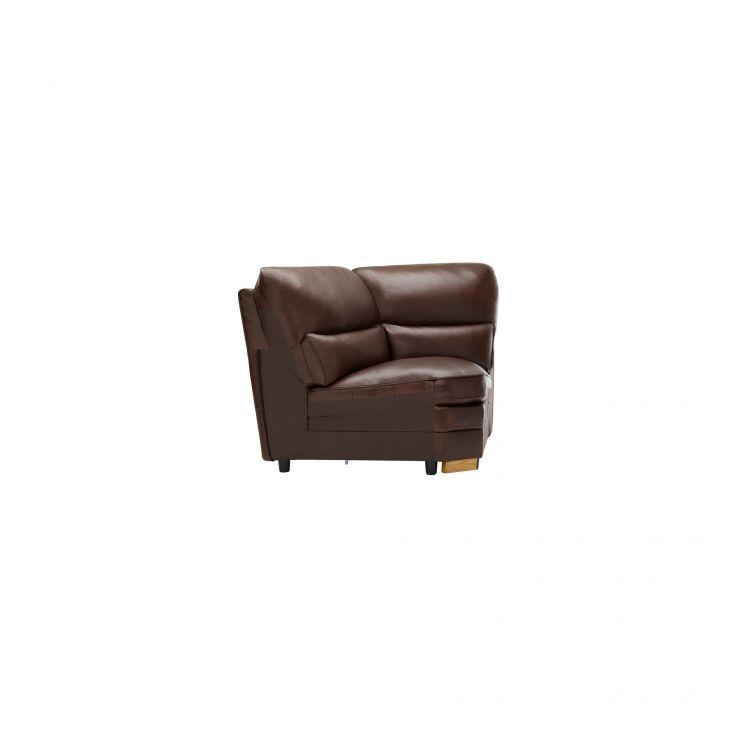 Modena Corner Module in 2 Tone Brown Leather - Image 2