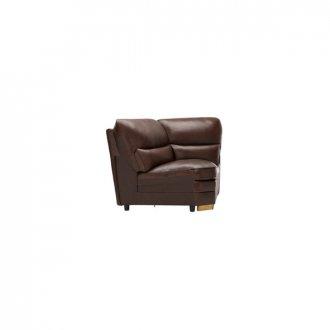 Modena Corner Module in 2 Tone Brown Leather
