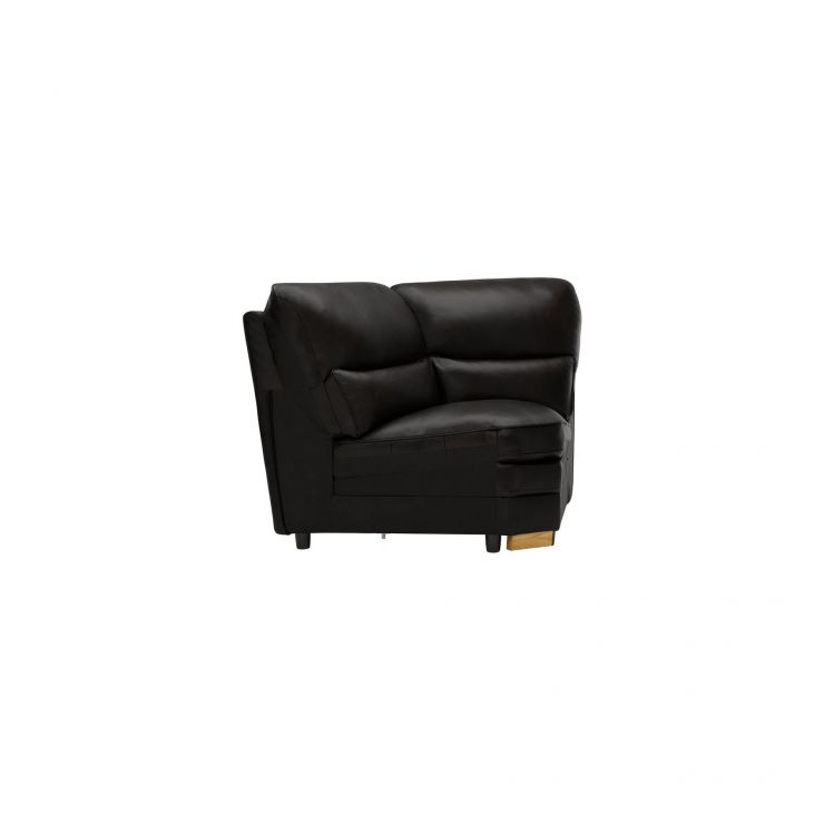 Modena Corner Module in Black Leather - Image 2