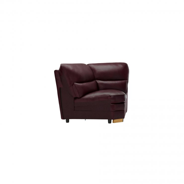 Modena Corner Module in Burgundy Leather