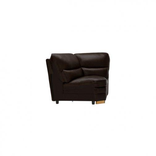 Modena Corner Module in Dark Brown Leather
