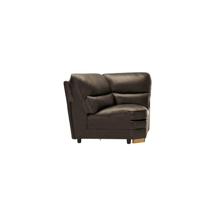 Modena Corner Module in Dark Grey Leather - Image 2