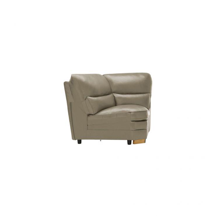 Modena Corner Module in Grey Leather - Image 2
