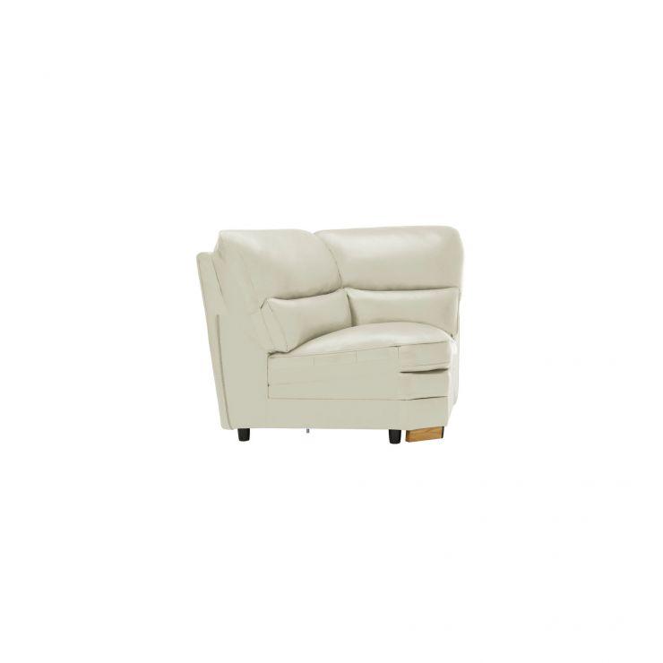 Modena Corner Module in Off White Leather - Image 2