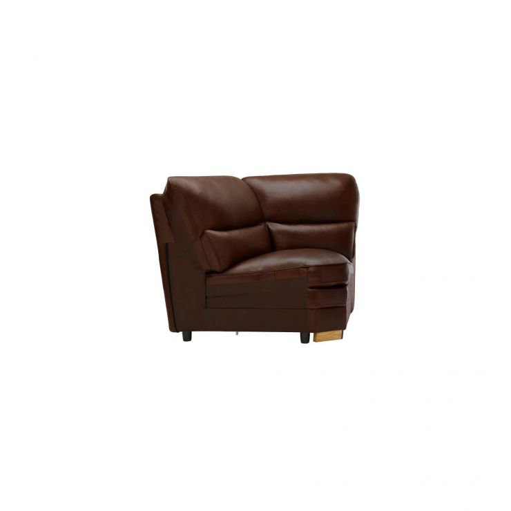 Modena Corner Module in Tan Leather - Image 2