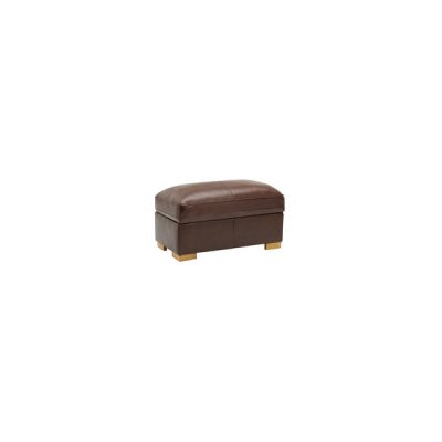 Modena Footstool in 2 Tone Brown Leather
