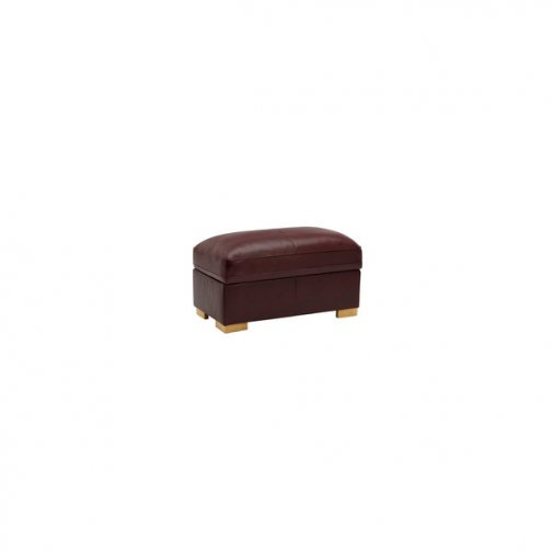 Modena Footstool in Burgundy Leather