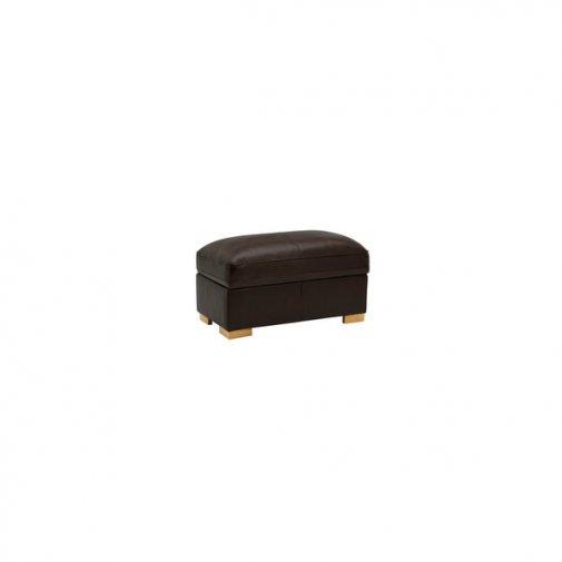 Modena Footstool in Dark Brown Leather