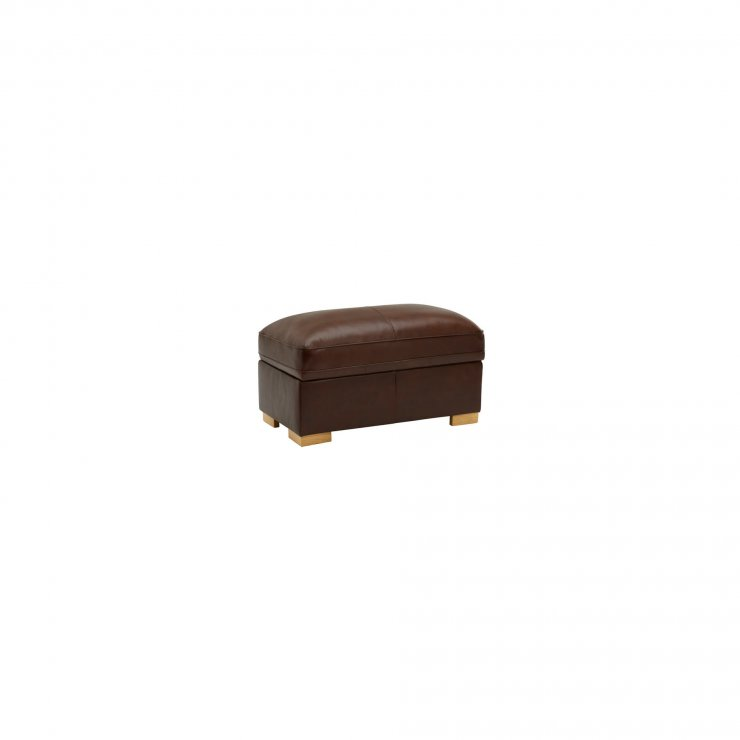 Modena Footstool in Tan Leather - Image 2