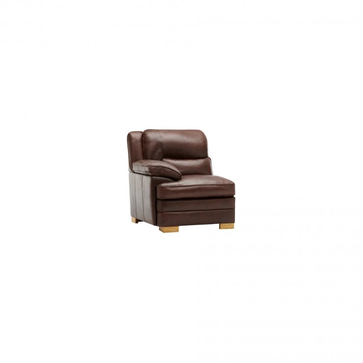 Modena Left Arm Module in 2 Tone Brown Leather - Image 3