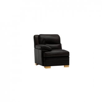 Modena Left Arm Module in Black Leather