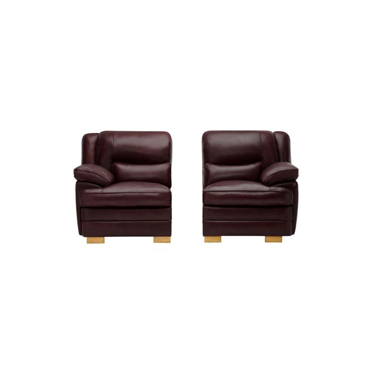 Modena Left Arm Module in Burgundy Leather - Image 2