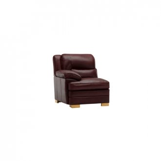 Modena Left Arm Module in Burgundy Leather