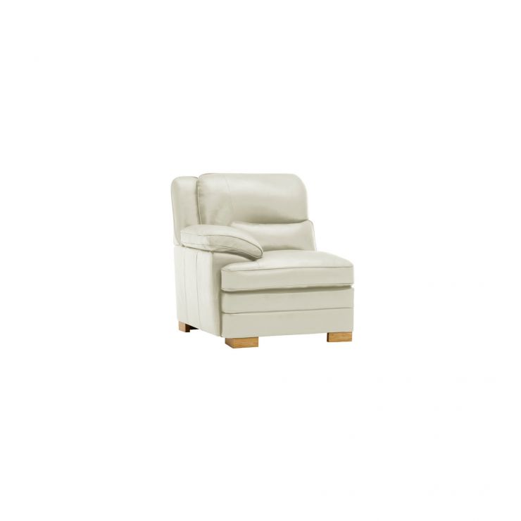 Modena Left Arm Module in Off White Leather - Image 4
