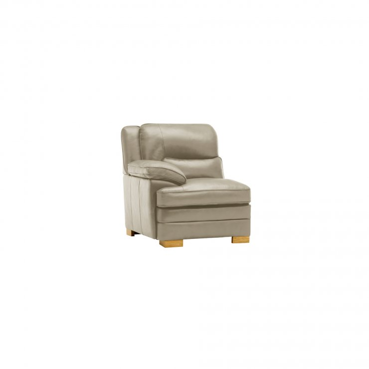 Modena Left Arm Module in Stone Leather - Image 3