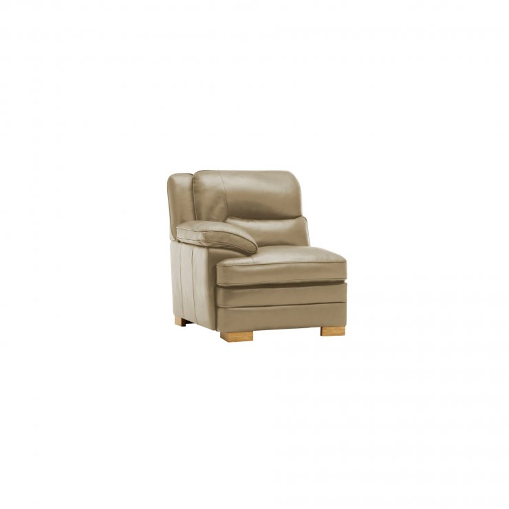 Modena Left Arm Module in Taupe Leather - Image 3