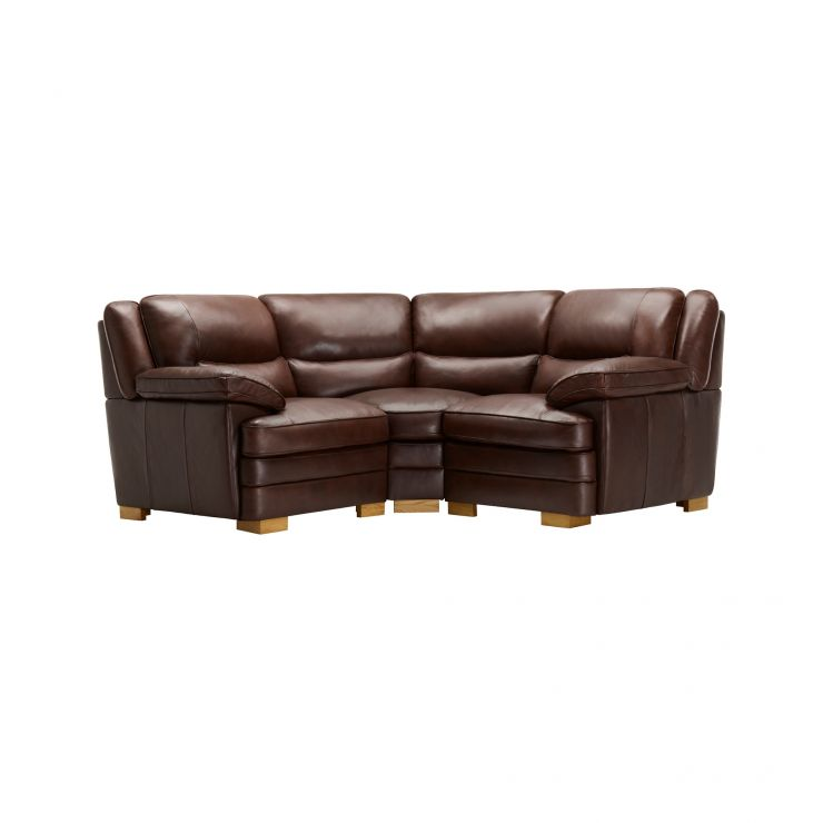 Modena Modular Group 1 in 2 Tone Brown Leather - Image 1
