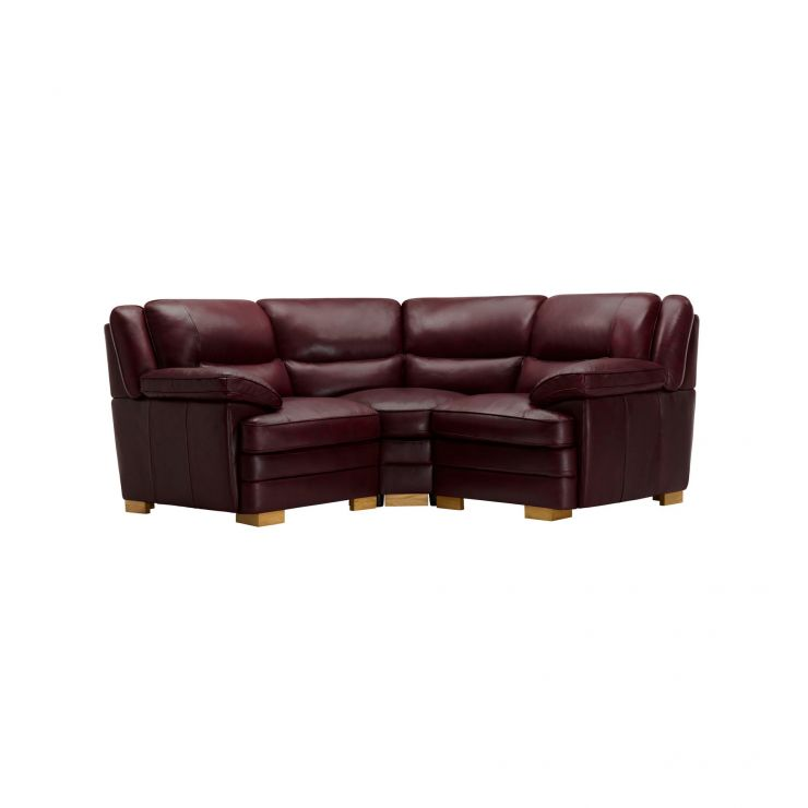 Modena Modular Group 1 in Burgundy Leather - Image 1