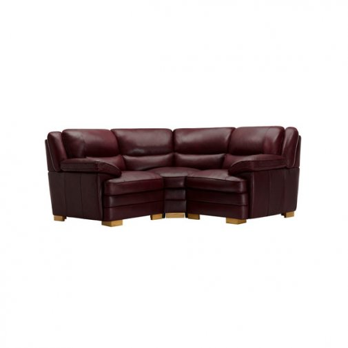 Modena Modular Group 1 in Burgundy Leather