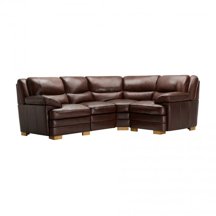Modena Modular Group 2 in 2 Tone Brown Leather - Image 9