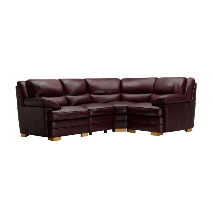 Modena Modular Group 2 in Burgundy Leather - Image 1