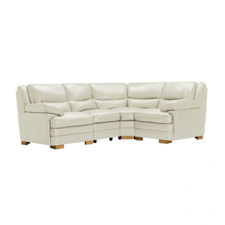 Modena Modular Group 2 in Off White Leather - Image 1