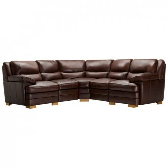 Modena Modular Group 3 in 2 Tone Brown Leather