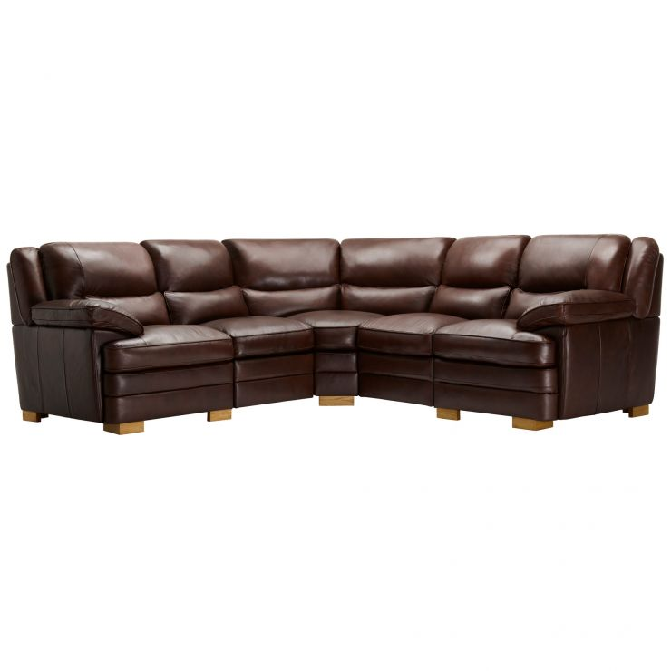 Modena Modular Group 3 in 2 Tone Brown Leather - Image 11