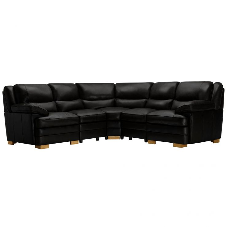 Modena Modular Group 3 in Black Leather - Image 7