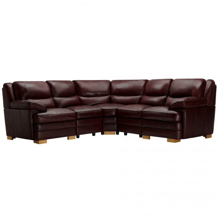 Modena Modular Group 3 in Burgundy Leather - Image 13