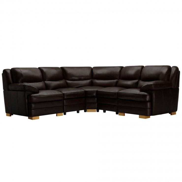 Modena Modular Group 3 in Dark Brown Leather - Image 10