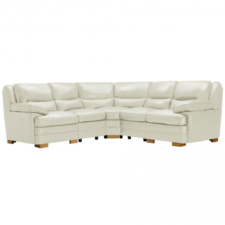 Modena Modular Group 3 in Off White Leather - Image 11