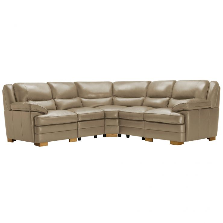 Modena Modular Group 3 in Taupe Leather - Image 11