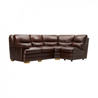 Modena Modular Group 4 in 2 Tone Brown Leather