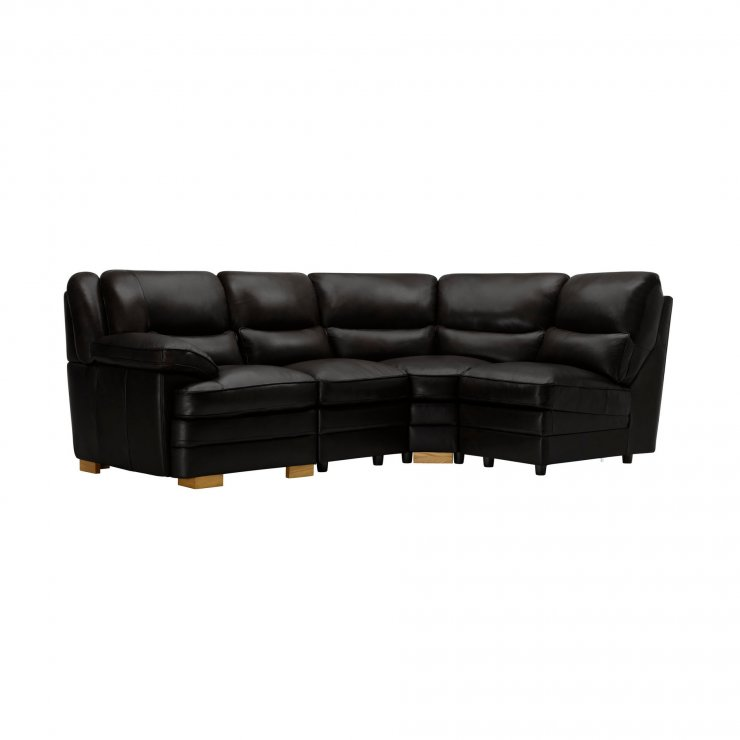 Modena Modular Group 4 in Black Leather - Image 8