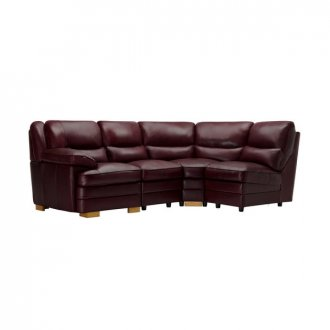 Modena Modular Group 4 in Burgundy Leather