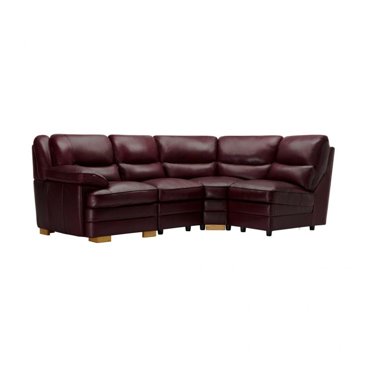 Modena Modular Group 4 in Burgundy Leather - Image 1
