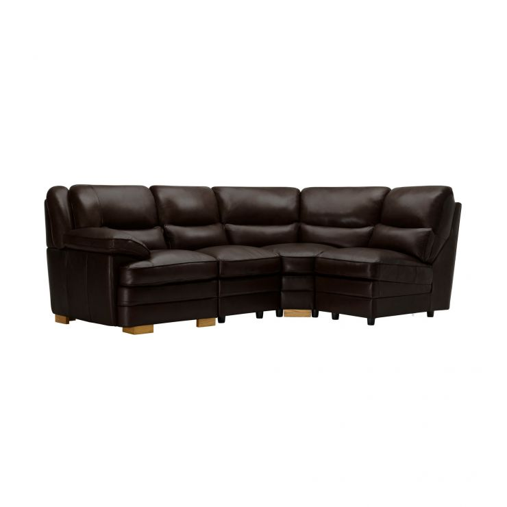 Modena Modular Group 4 in Dark Brown Leather - Image 8