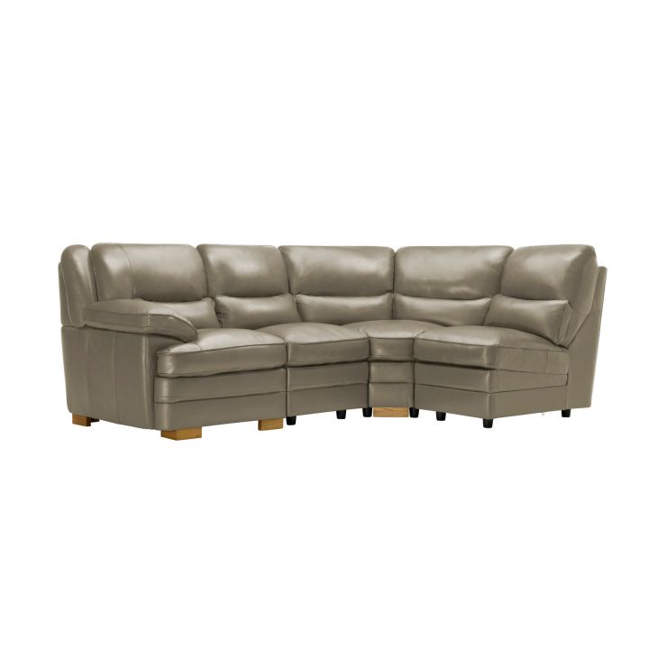 Modena Modular Group 4 in Grey Leather - Image 8