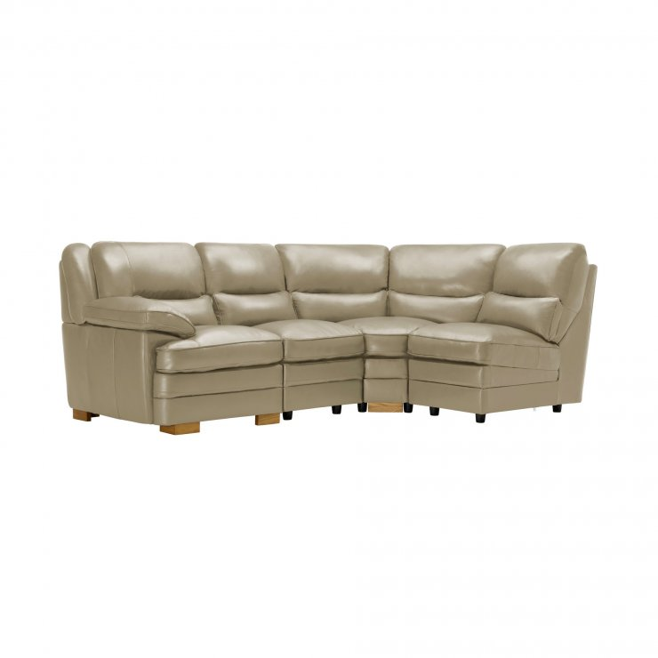 Modena Modular Group 4 in Stone Leather - Image 8