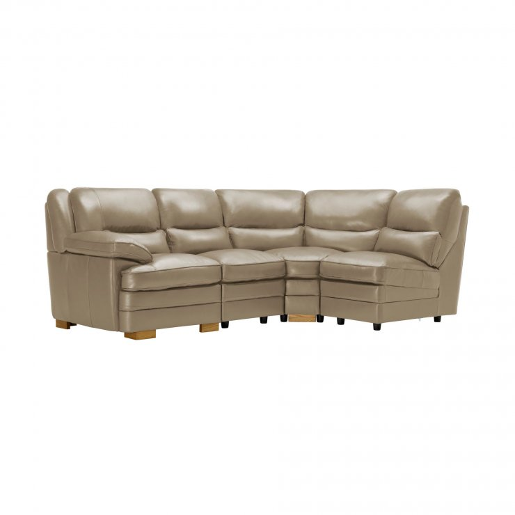 Modena Modular Group 4 in Taupe Leather - Image 5