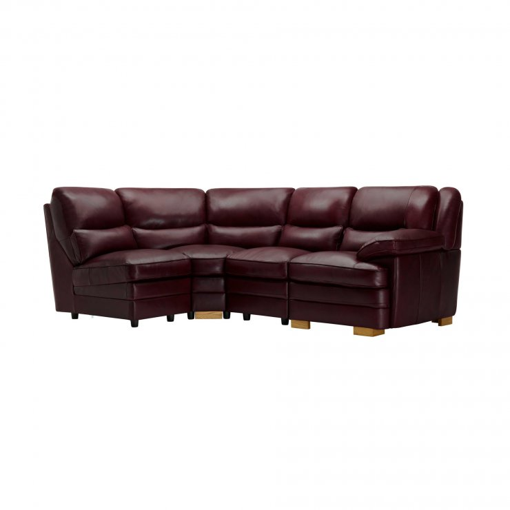 Modena Modular Group 5 in Burgundy Leather - Image 7