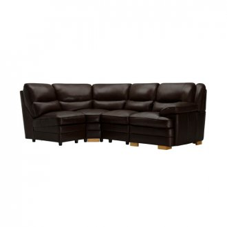 Modena Modular Group 5 in Dark Brown Leather