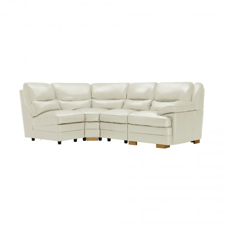 Modena Modular Group 5 in Off White Leather - Image 7