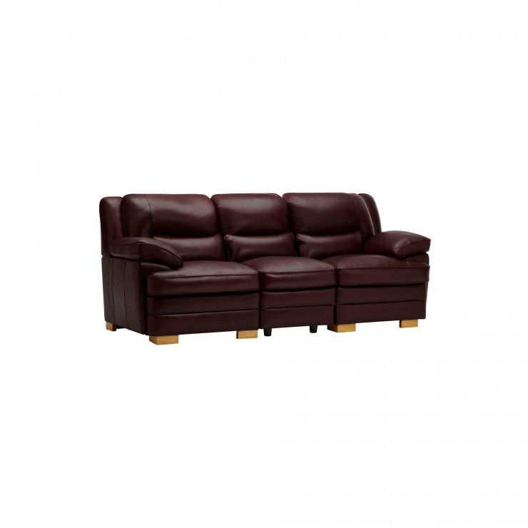 Modena Modular Group 9 in Burgundy Leather - Image 1
