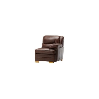 Modena Right Arm Module in 2 Tone Brown Leather
