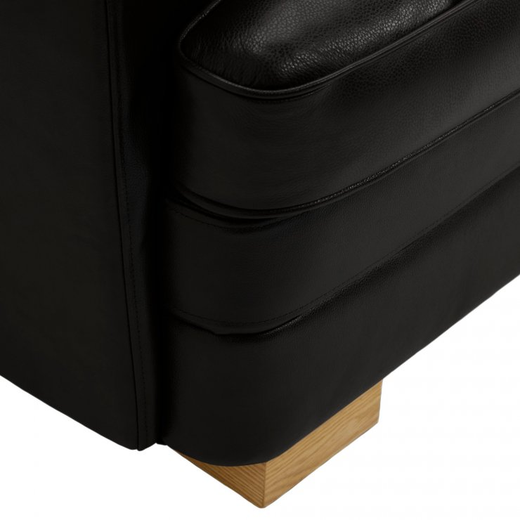 Modena Right Arm Module in Black Leather