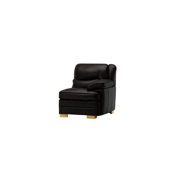 Modena Right Arm Module in Black Leather - Image 1