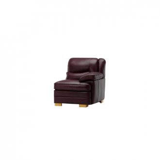 Modena Right Arm Module in Burgundy Leather