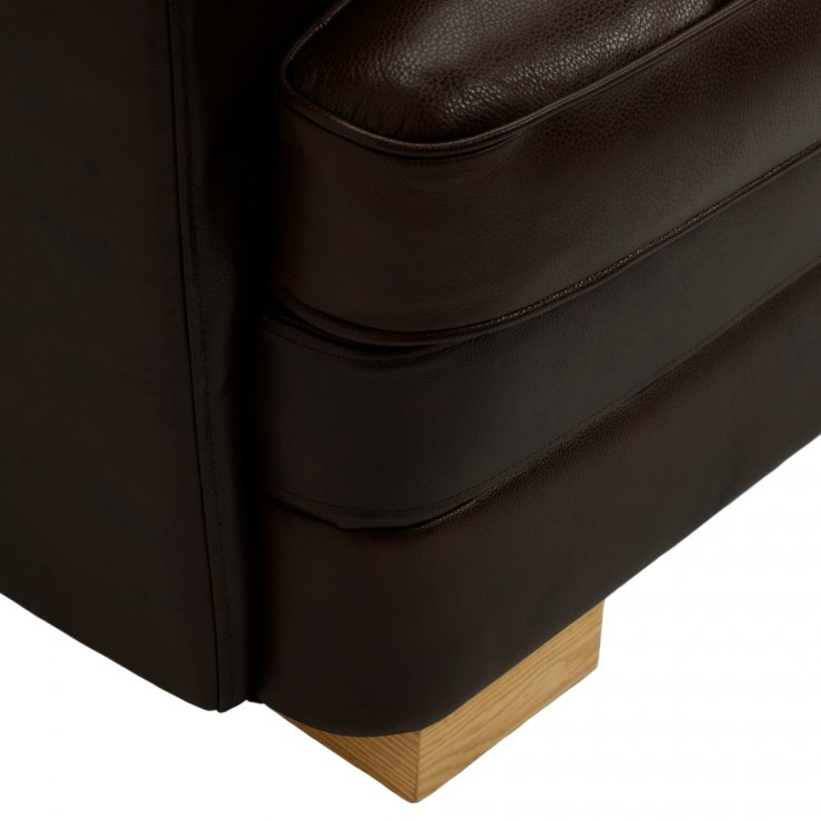 Modena Right Arm Module in Dark Brown Leather
